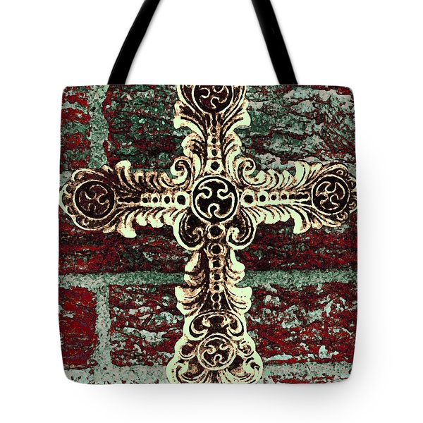 Ornate Cross 1 Tote Bag