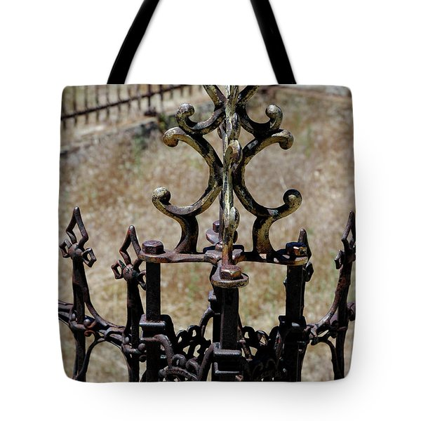 Ornate Iron Works Virginia City Nv Tote Bag by LeeAnn McLaneGoetz McLaneGoetzStudioLLCcom