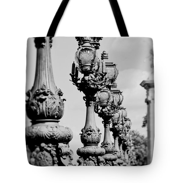Ornate Paris Street Lamp Tote Bag