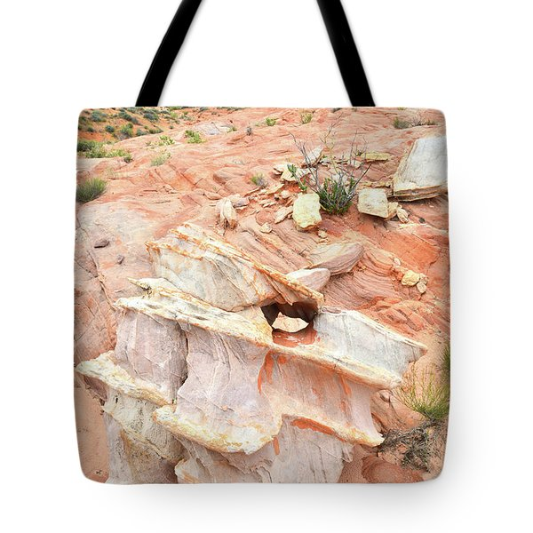 Tote Bag featuring the photograph Ornate Rock In Wash 4 Of Valley Of Fire by Ray Mathis