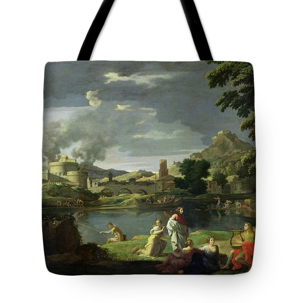 Orpheus And Eurydice Tote Bag by Nicolas Poussin
