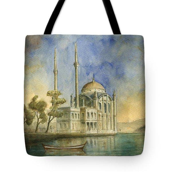 Ortakoy Mosque Istanbul Tote Bag
