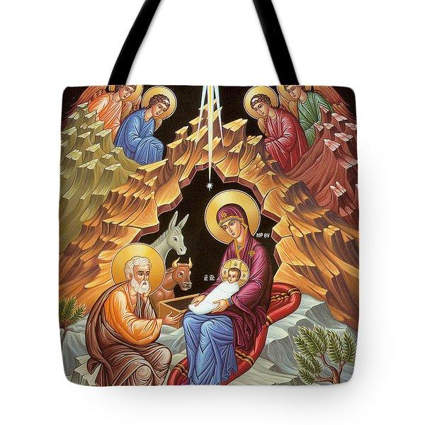 Orthodox Nativity Scene Tote Bag by Munir Alawi