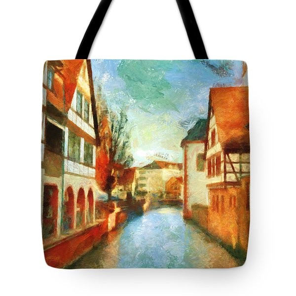 Tote Bag featuring the digital art Ortschaft by Greg Collins