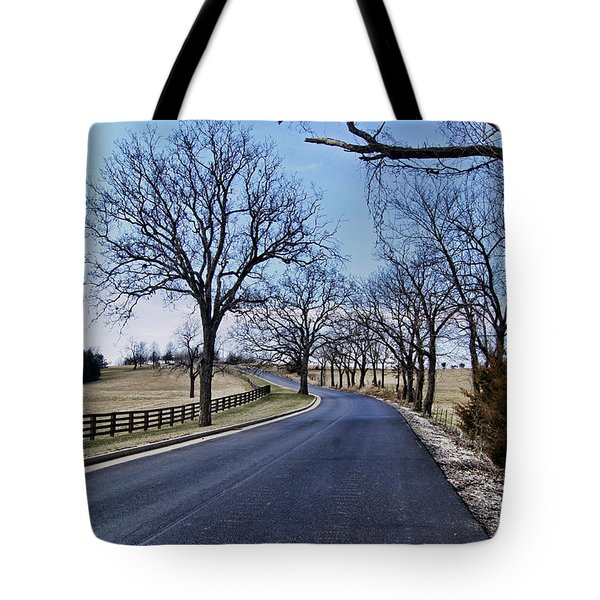 Tote Bag featuring the photograph Osage County Road by Cricket Hackmann