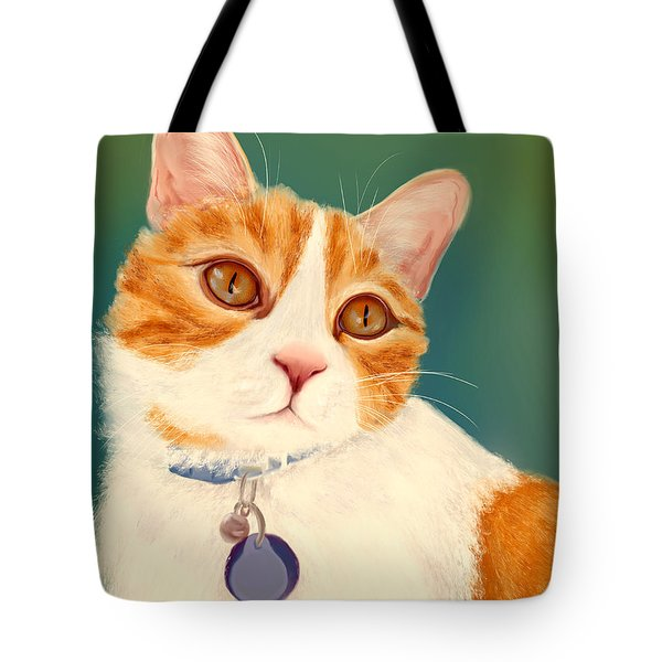 Oscar- Orange Tabby  Tote Bag