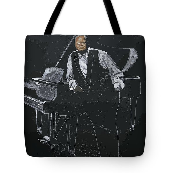 Tote Bag featuring the painting Oscar Peterson by Richard Le Page