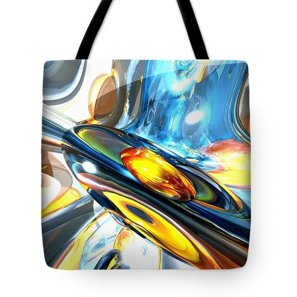 Oscillating Color Abstract Tote Bag by Alexander Butler