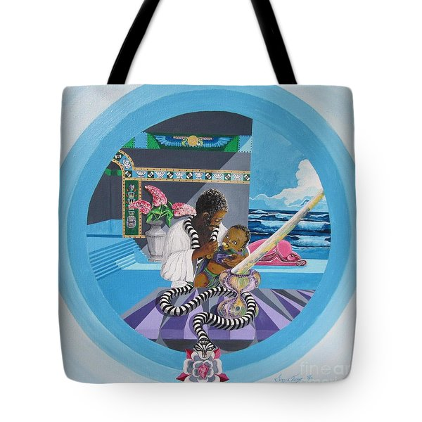 Blaa Kattproduksjoner             Osiris Feeding His Son Horus Tote Bag