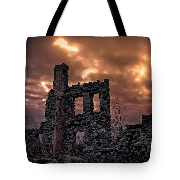 Tote Bag featuring the photograph Osler Castle by Michaela Preston