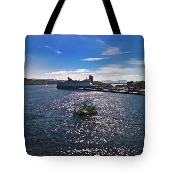Oslo Fjord From The Roof Of The National Opera House Tote Bag