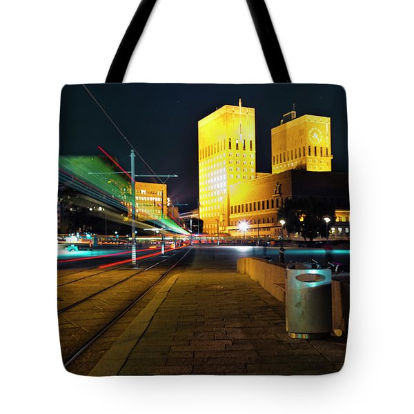 Oslo Town Hall Tote Bag