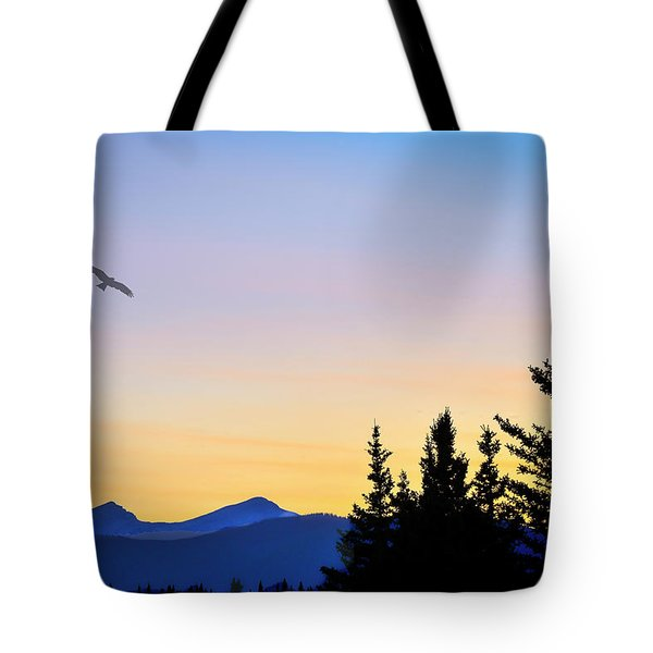 Osprey Against The Sunset Tote Bag