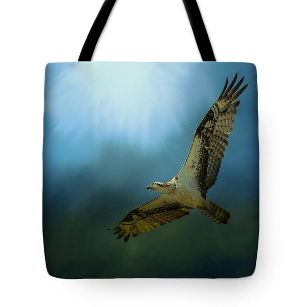 Osprey In The Evening Light Tote Bag by Jai Johnson
