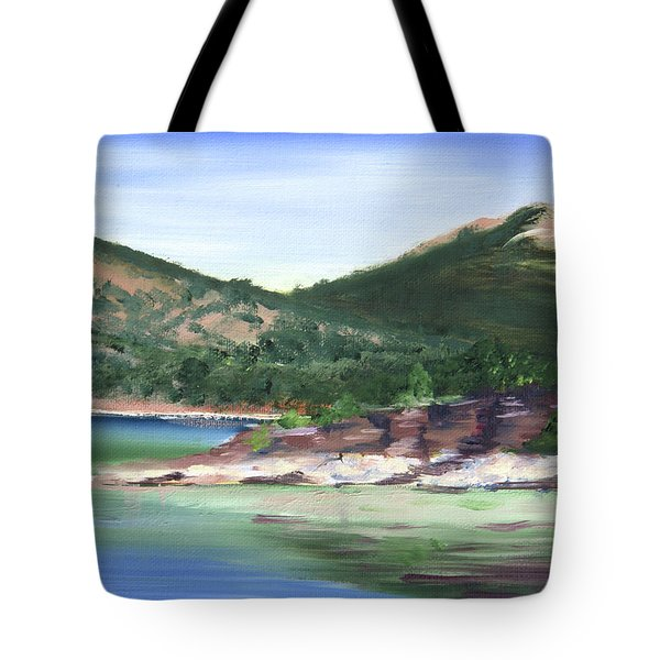 Osprey Island Flaming Gorge Tote Bag