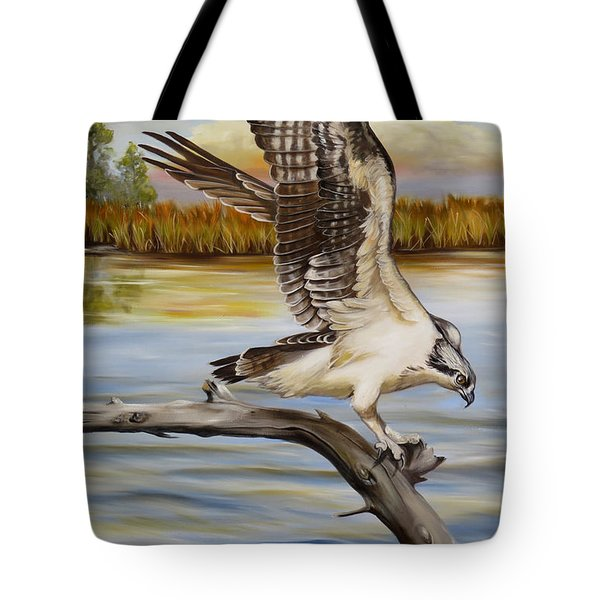 Osprey Landing Tote Bag by Phyllis Beiser