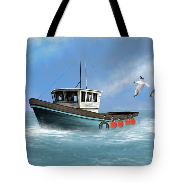 Tote Bag featuring the digital art Osprey by Mark Taylor