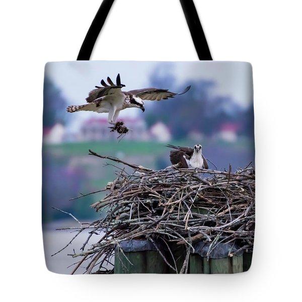 Osprey Nest Building Tote Bag