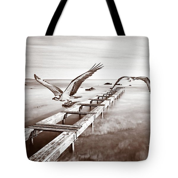 Osprey On The Move Bw Tote Bag
