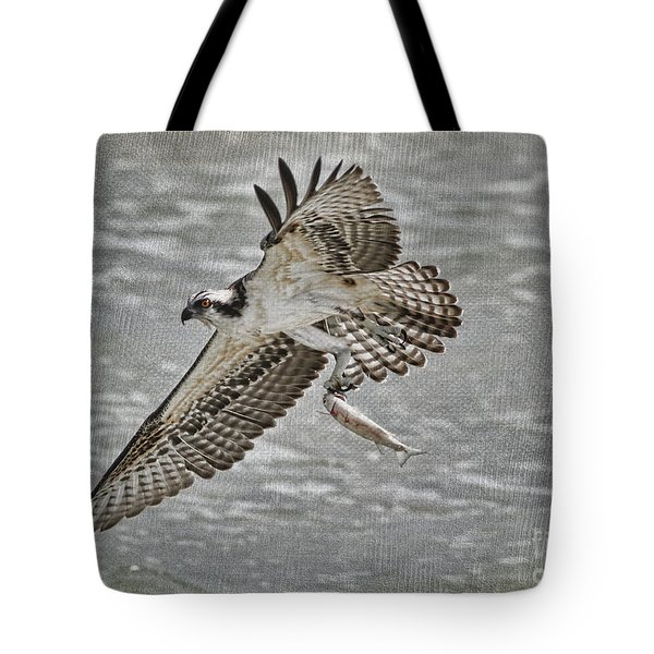 Osprey With Breakfast Tote Bag by Deborah Benoit