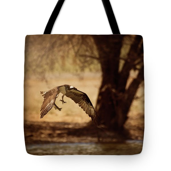 Osprey With Lunch Tote Bag