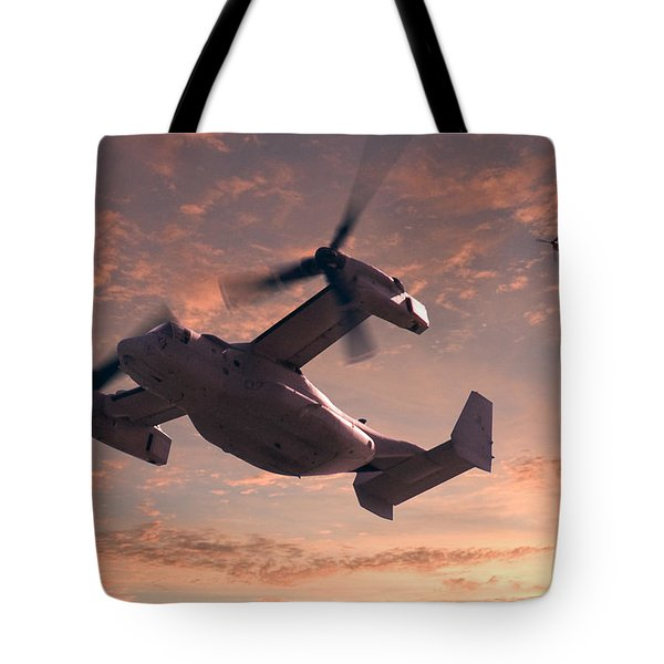 Ospreys In Flight Tote Bag by Mike McGlothlen