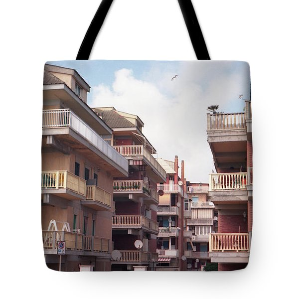 Ostias First Beach Line Tote Bag