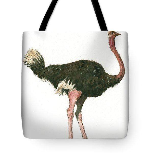 Ostrich Bird Tote Bag by Juan Bosco