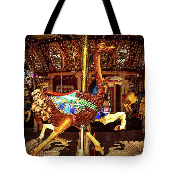 Ostrich Carousel Ride Tote Bag