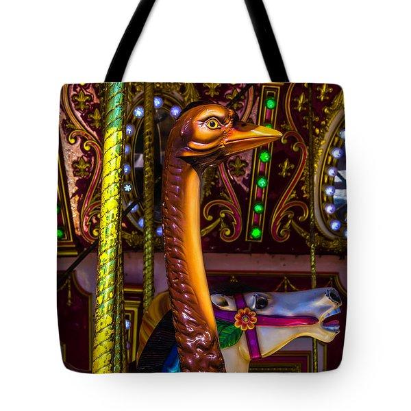 Ostrich Fair Ride Tote Bag