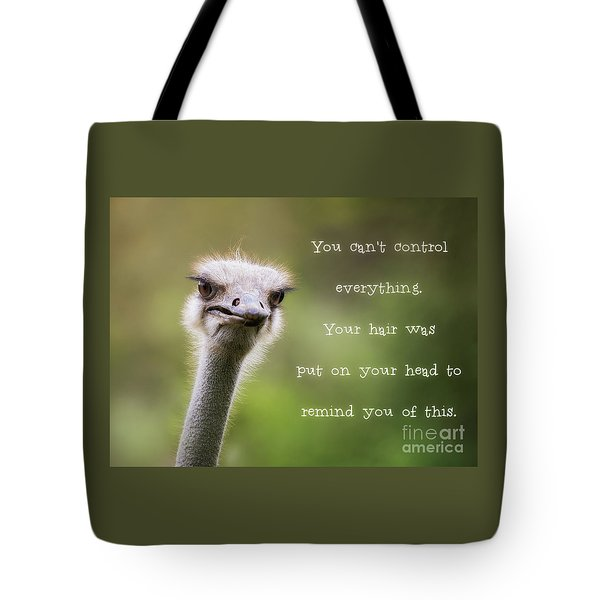 Ostrich Having A Bad Hair Day Tote Bag