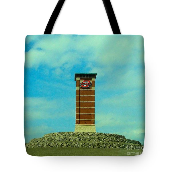 Oklahoma State University Gateway To Osu Tulsa Campus Tote Bag by Janette Boyd
