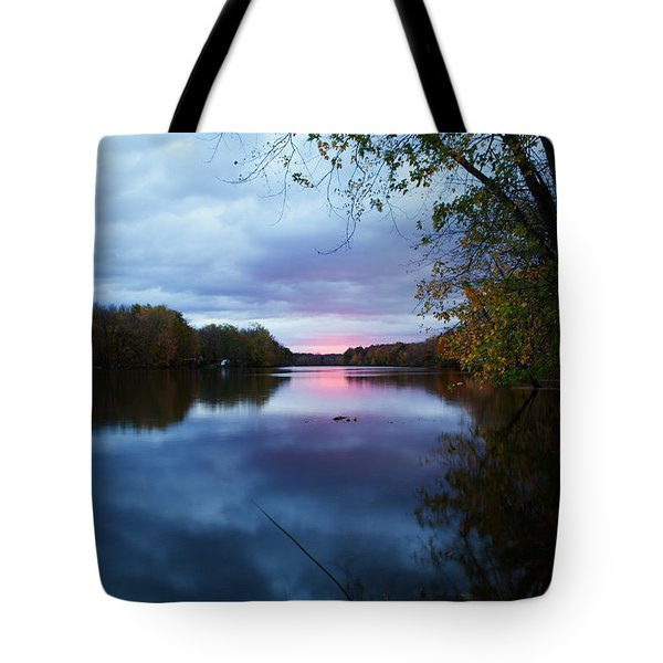 Oswego River Tote Bag by Everet Regal