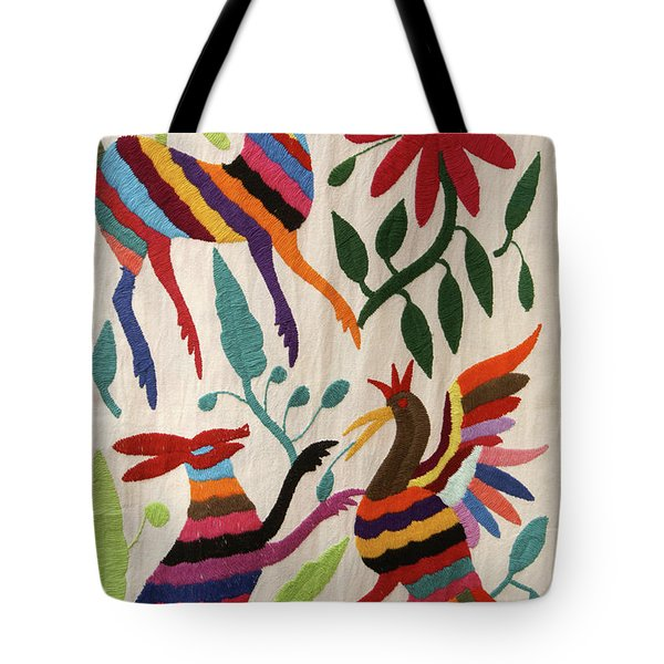 Tote Bag featuring the photograph Otomi Fantasy Mexico by John  Mitchell