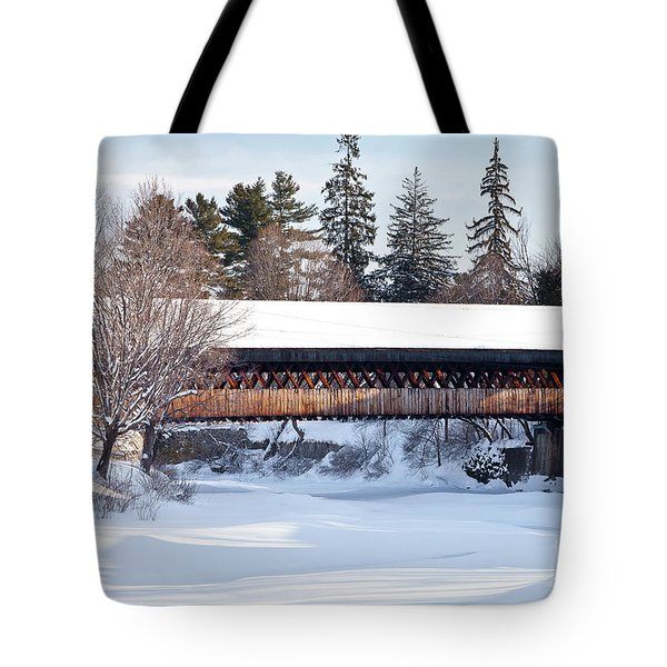 Tote Bag featuring the photograph Ottaquechee Middle Bridge by Susan Cole Kelly