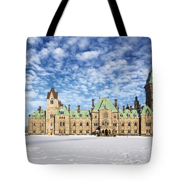 Ottawa Parliament East Block Tote Bag