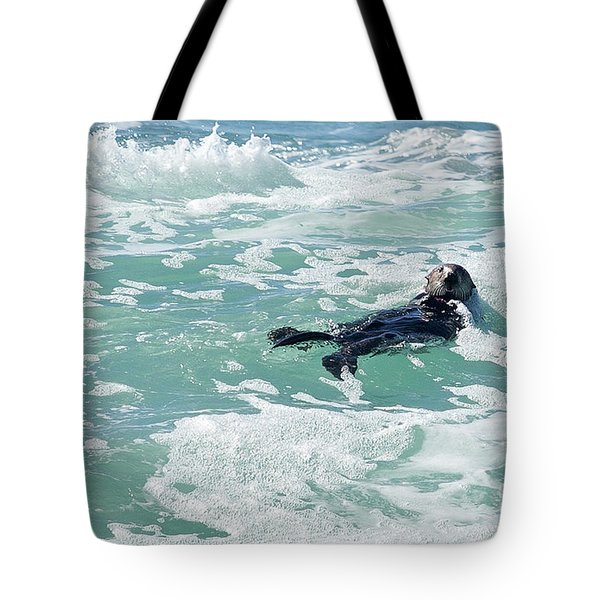 Otter At Montana De Oro Tote Bag by Michael Rock