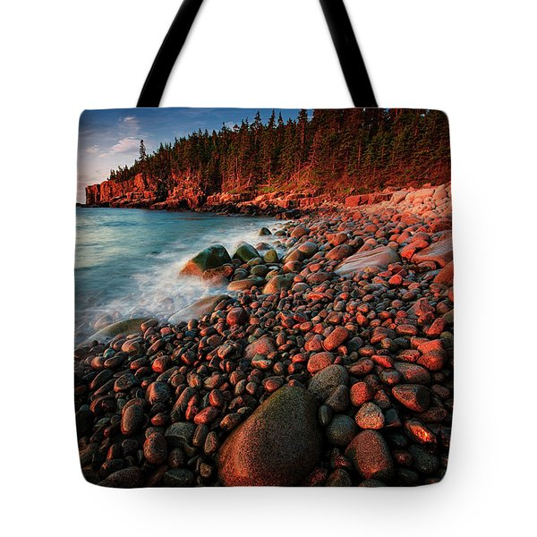 Tote Bag featuring the photograph Otter Beach Main After The First Light  by Emmanuel Panagiotakis