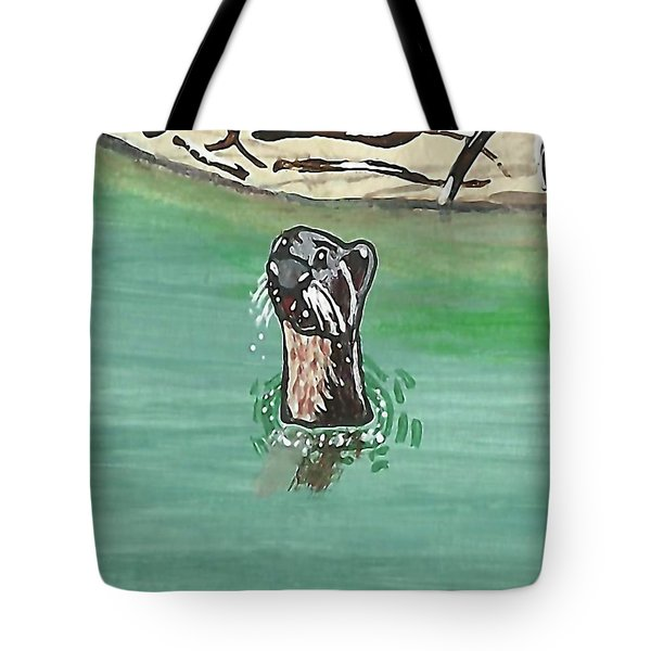Otter In Amazon River Tote Bag