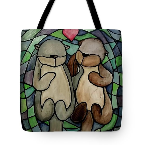 Otters Tote Bag