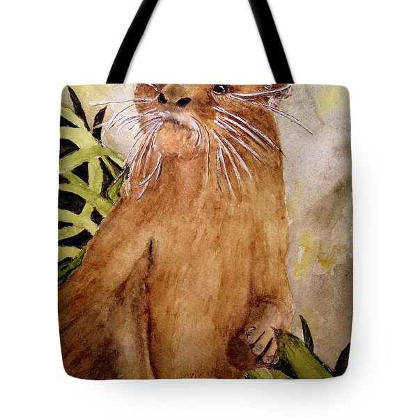 Otto The River Otter Tote Bag