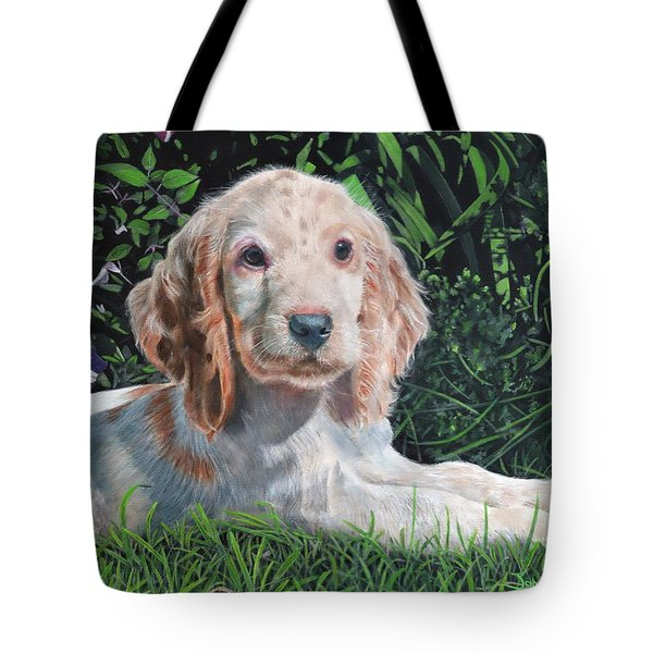 Tote Bag featuring the painting Our Archie by John Neeve
