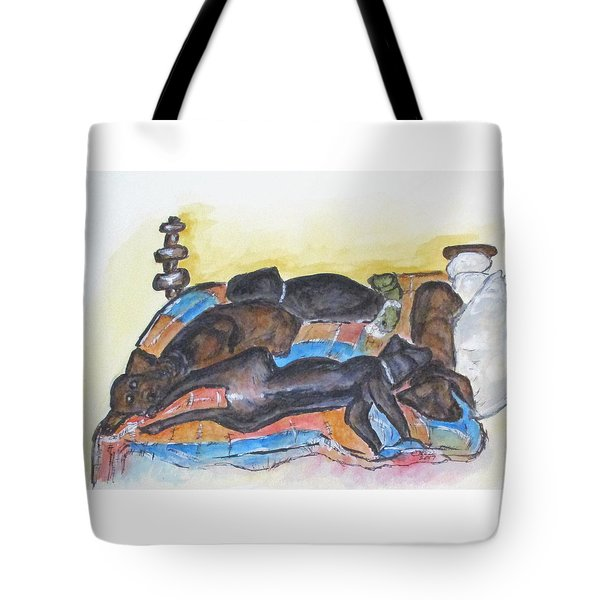 Our Bed Now Tote Bag