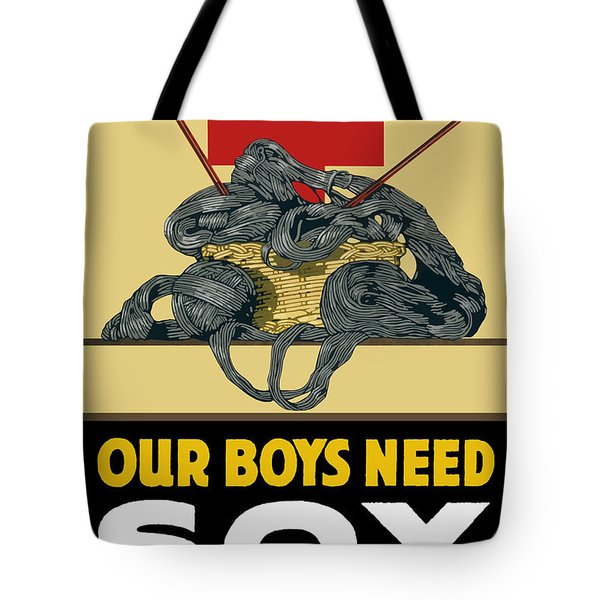 Our Boys Need Sox - Knit Your Bit Tote Bag