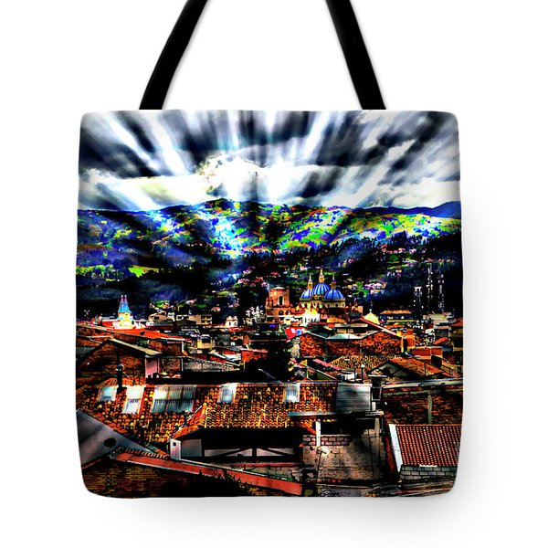 Our City In The Andes Tote Bag by Al Bourassa