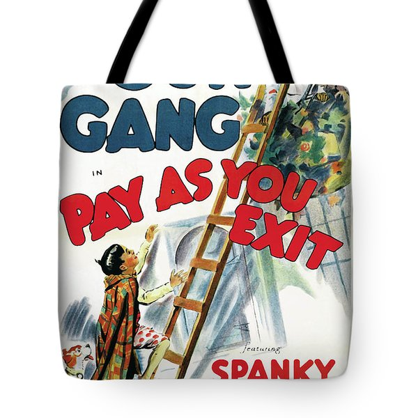 Our Gang In Pay As You Exit 1936 Tote Bag