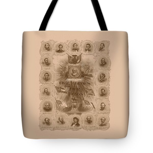 Our Heroes And Our Flags Tote Bag by War Is Hell Store