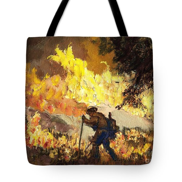 Our Heroes Tonight Tote Bag by Randy Sprout