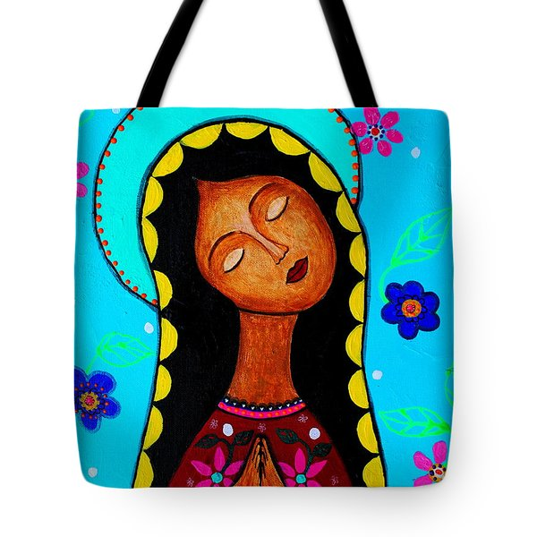 Tote Bag featuring the painting Our Lady Of Guadalupe II by Pristine Cartera Turkus