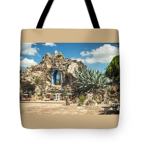 Our Lady Of Lourdes Grotto Tote Bag